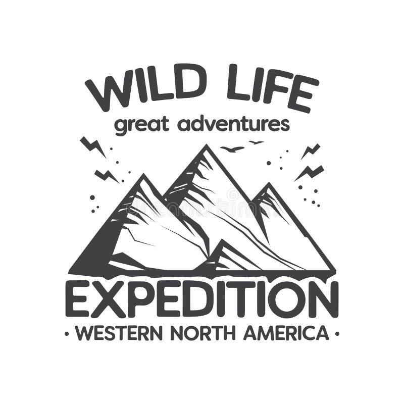 Wilde Leben-Expedition, große Abenteuer stock abbildung