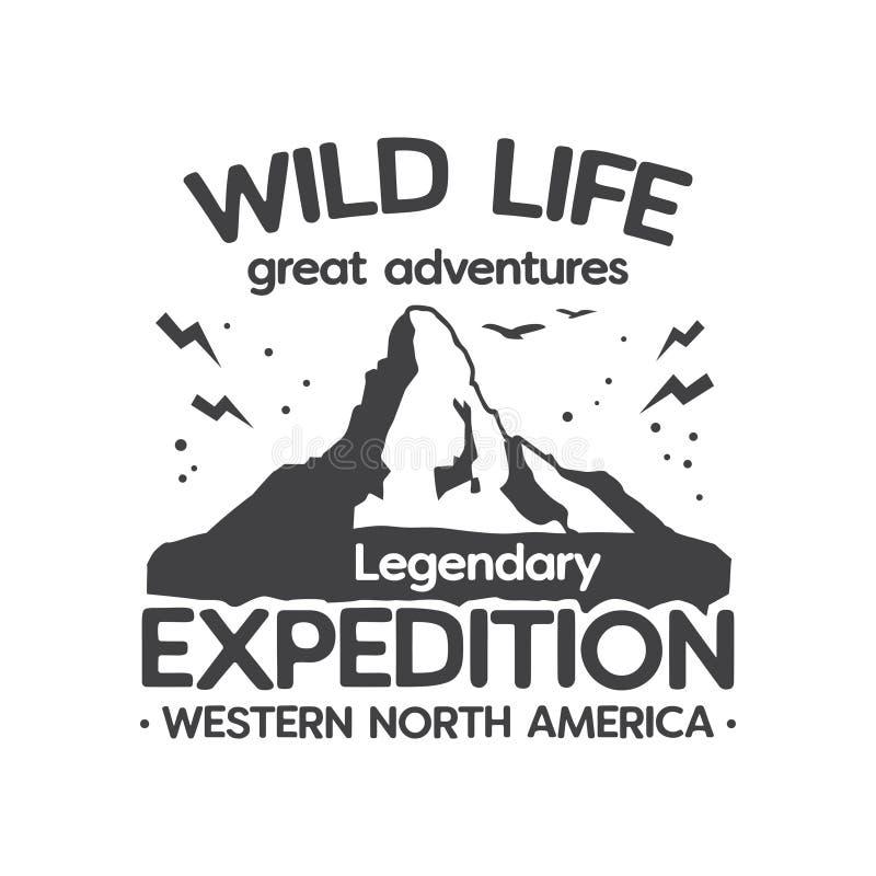 Wilde Leben-Expedition, große Abenteuer lizenzfreie abbildung