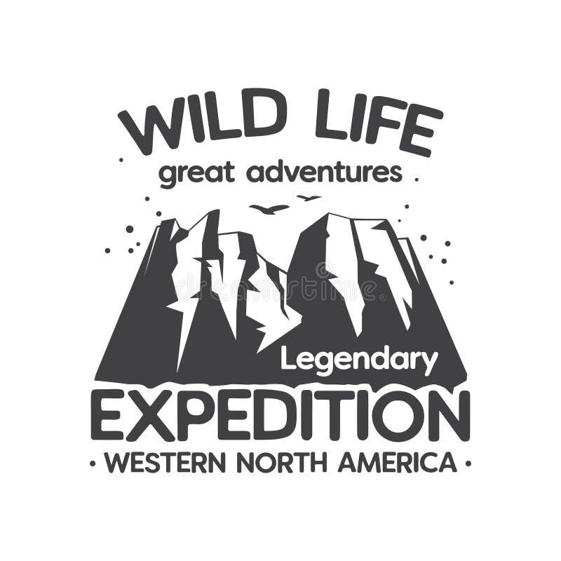 Wilde Leben-Expedition, große Abenteuer vektor abbildung