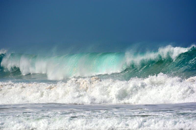 Wilde stormachtige Indische Oceaan royalty-vrije stock fotografie