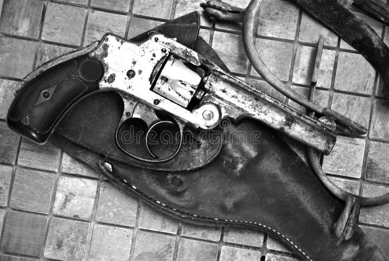 Wilde Westen-/Gewehr-Sporne stockfoto
