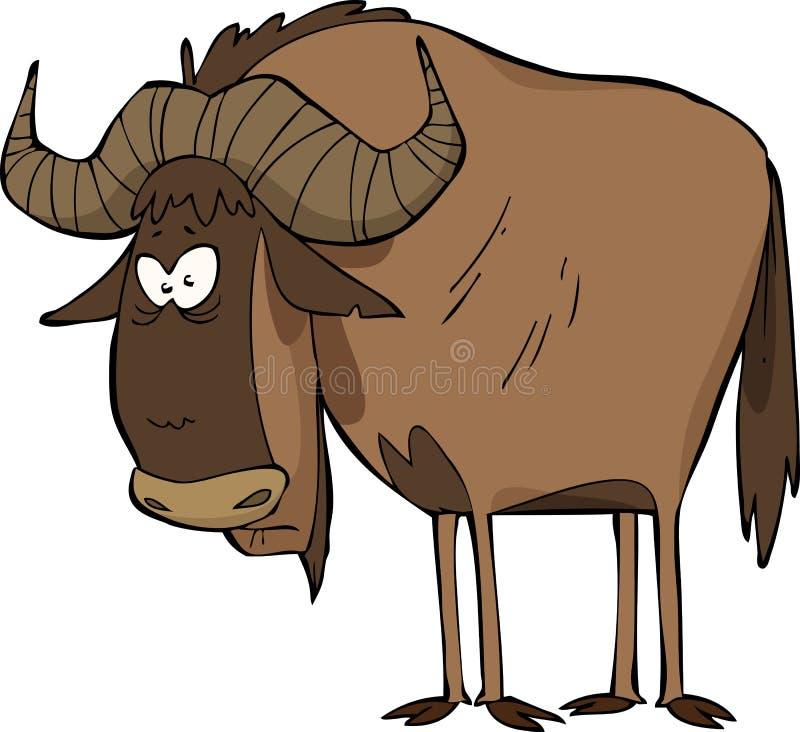Wildebeest stock vector. Illustration of painting, horn ...