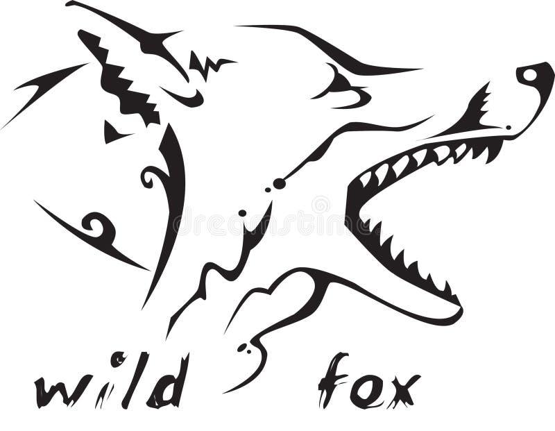 Wilder Fuchs der Stammes- Tätowierung vektor abbildung