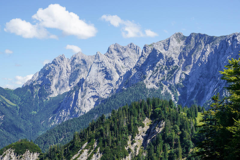 The Wilder Kaiser Alps. The beautiful Wilder Kaiser Alps in the heart of Europe stock photography