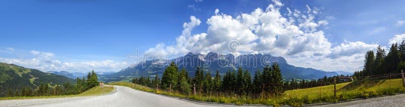 Wilder Kaiser. Landscape view from Wilder Kaiser, Tirol, Austria stock photography