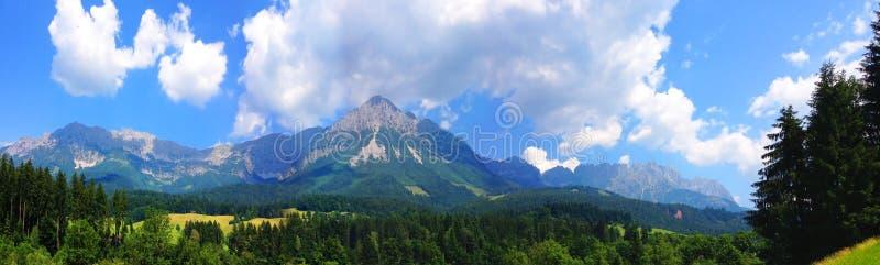 Wilder Kaiser. Mountain Panorama at the Wilder Kaiser Mountains in Austria royalty free stock photography