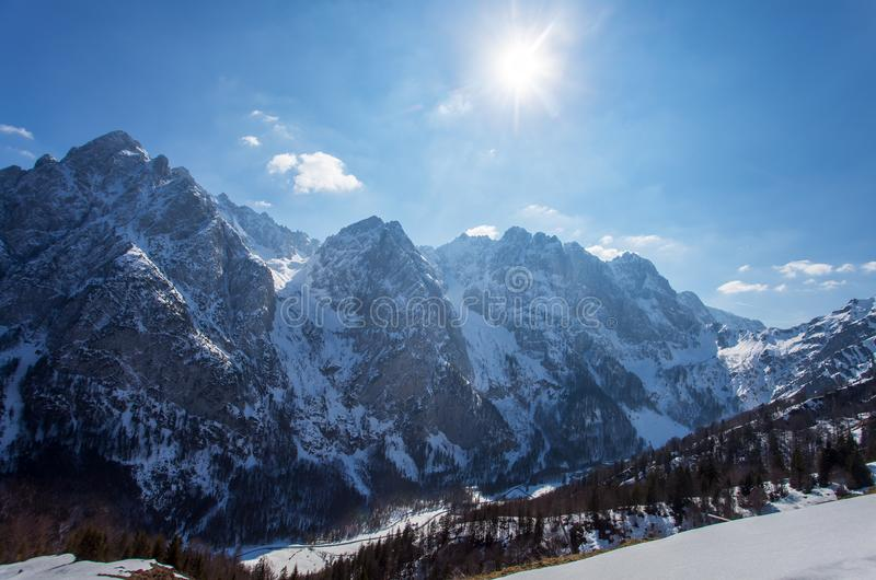 Wilder Kaiser. Mountains in Tyrol Austria in winter royalty free stock images