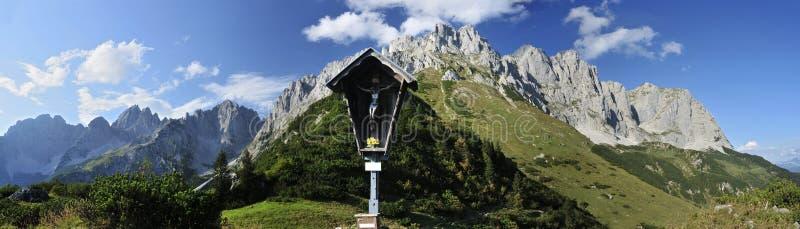 Wilder Kaiser. Summer scenery in Wilder Kaiser mountains - Austria stock image