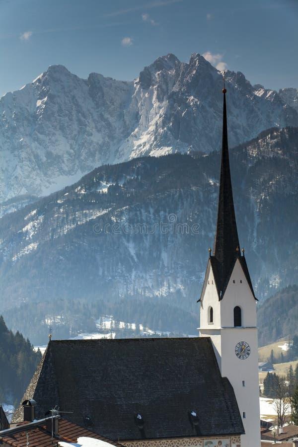 Wilder Kaiser. Mountains in Tyrol Austria in winter stock photos