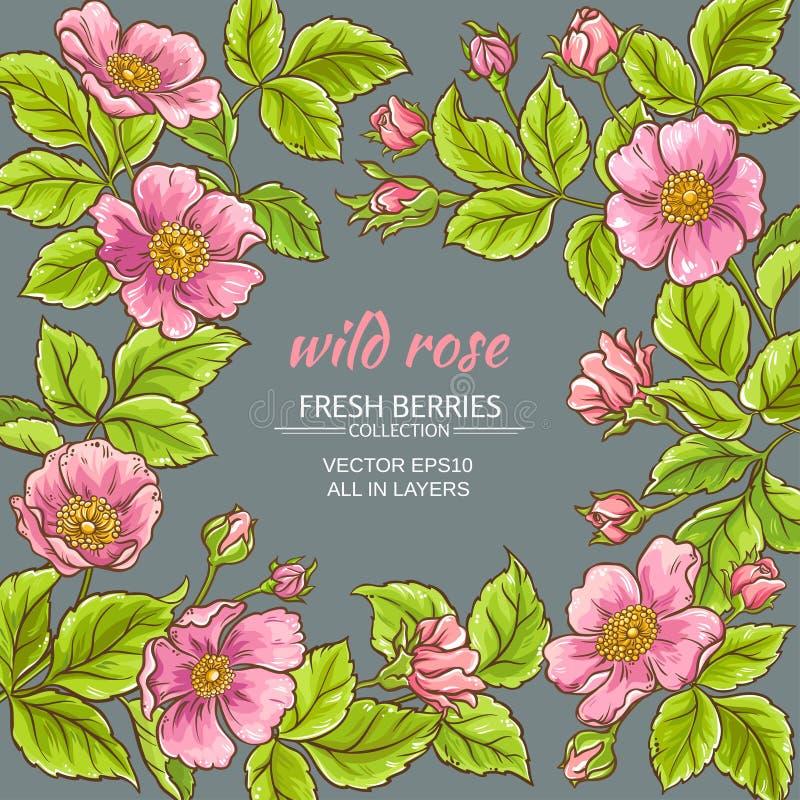 Wilder rosafarbener Blumenrahmen lizenzfreie abbildung