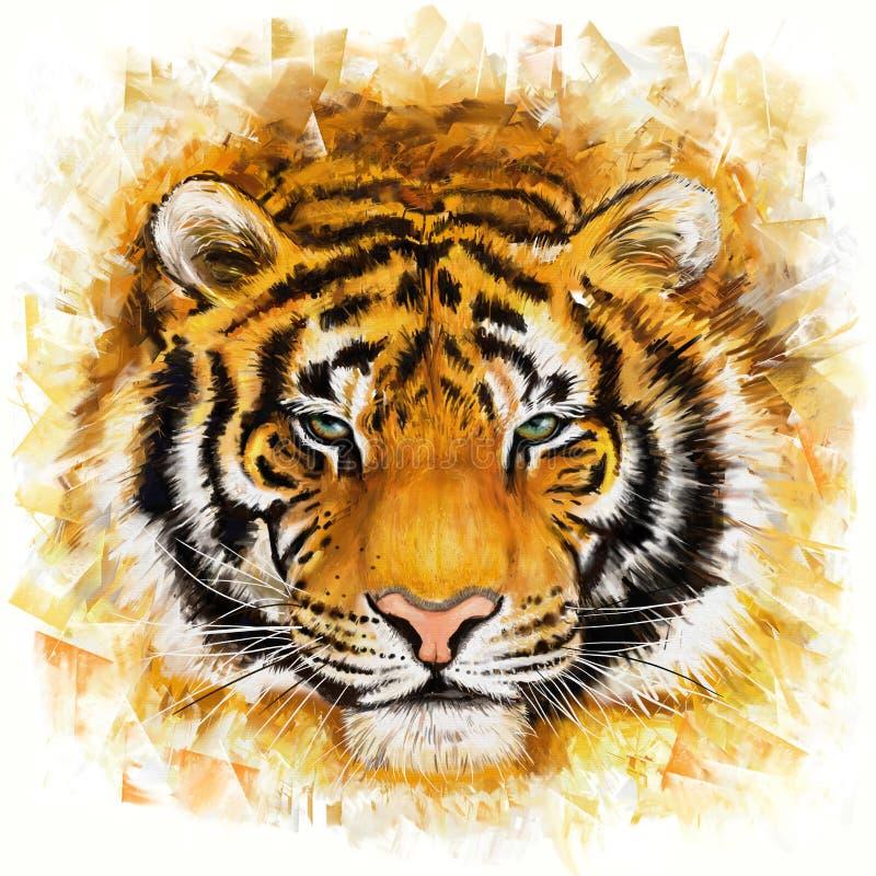 Wilder Tiger lizenzfreie abbildung