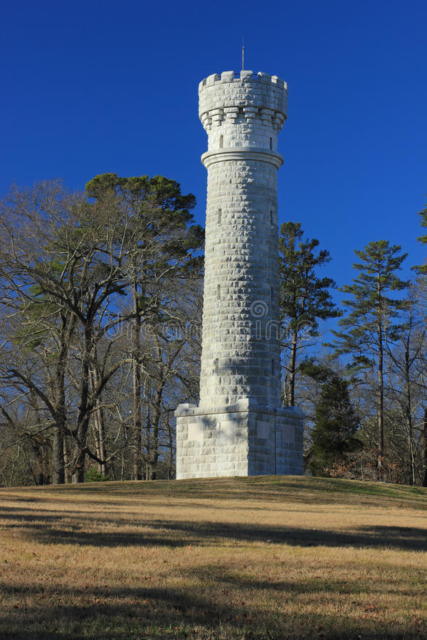 Wilder tower. This is the Wilder tower in the Chickamauga Battlefield in Fort Oglethorpe, GA. Taken on December 12,2012 stock photos