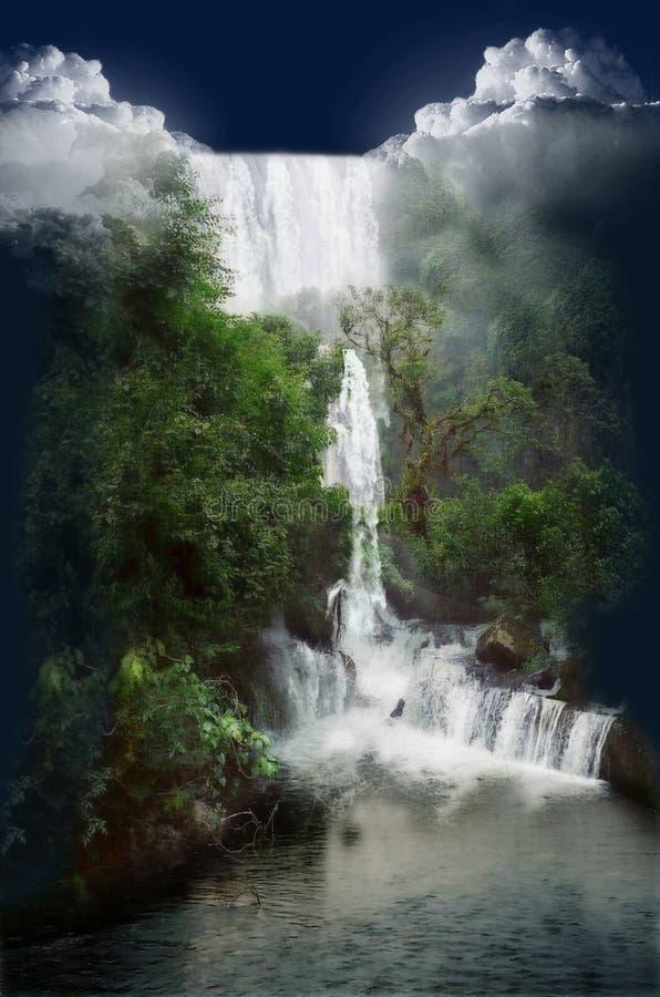 Wilder Wasserfall Lizenzfreie Stockbilder