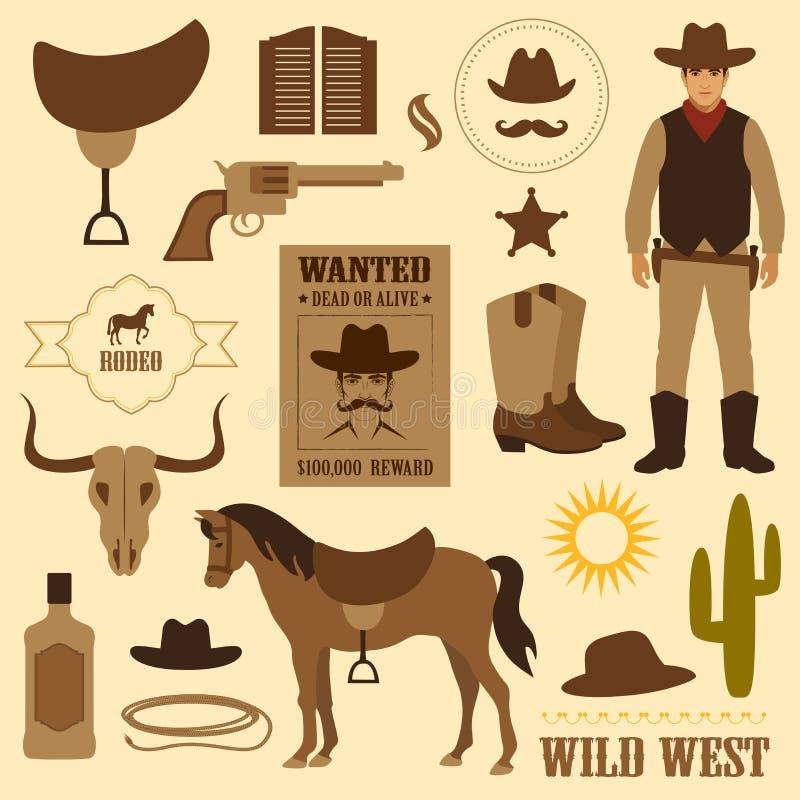 Wilder Westen lizenzfreie abbildung