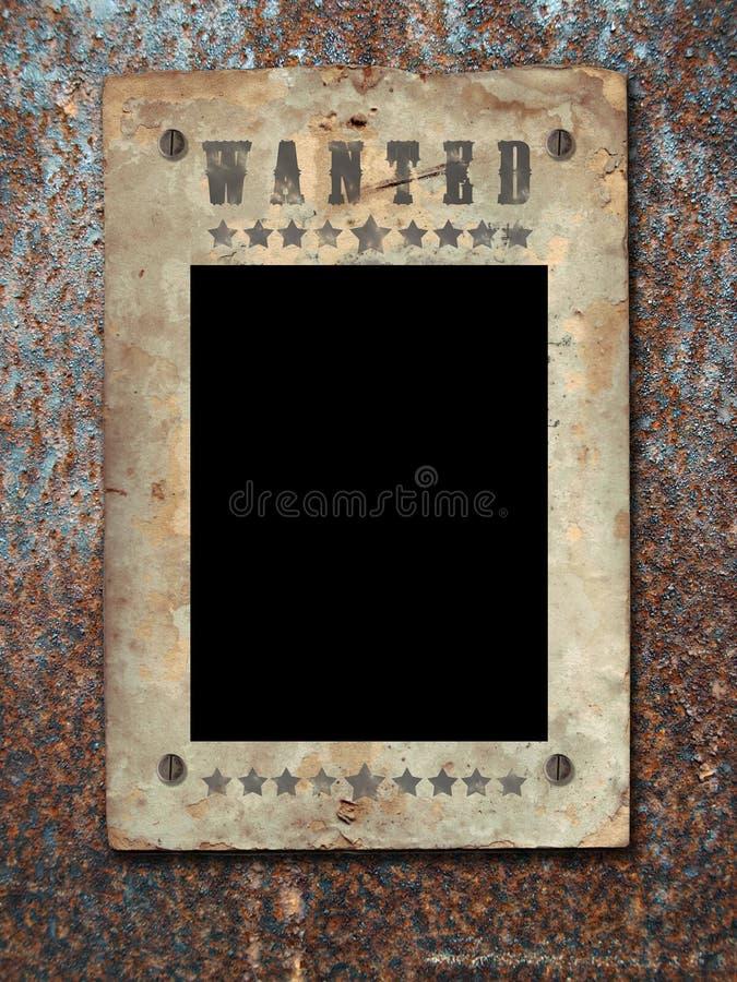 Wilder Westen redete Plakat an. stockfoto