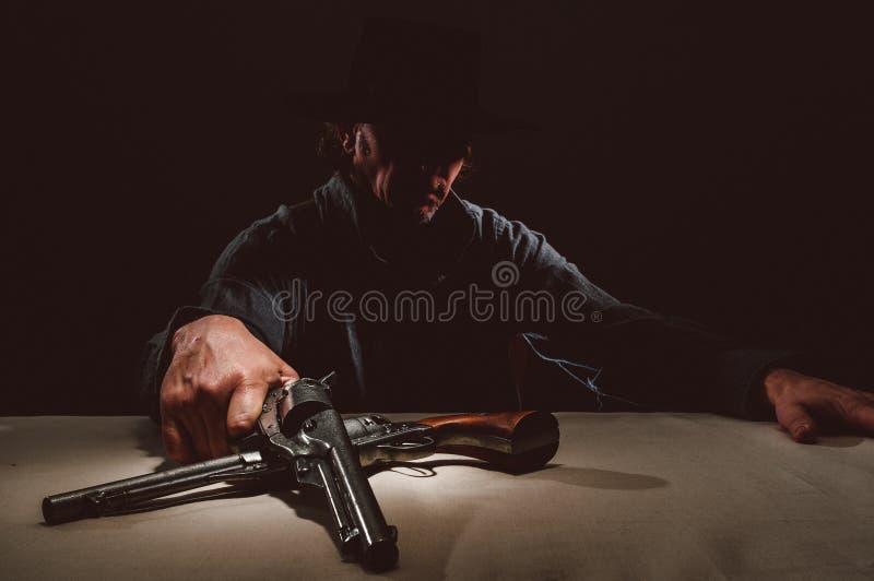 Wilder Westpistolenheld stockfotografie