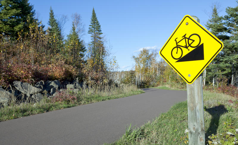Wilderness Bike Trail stock photography