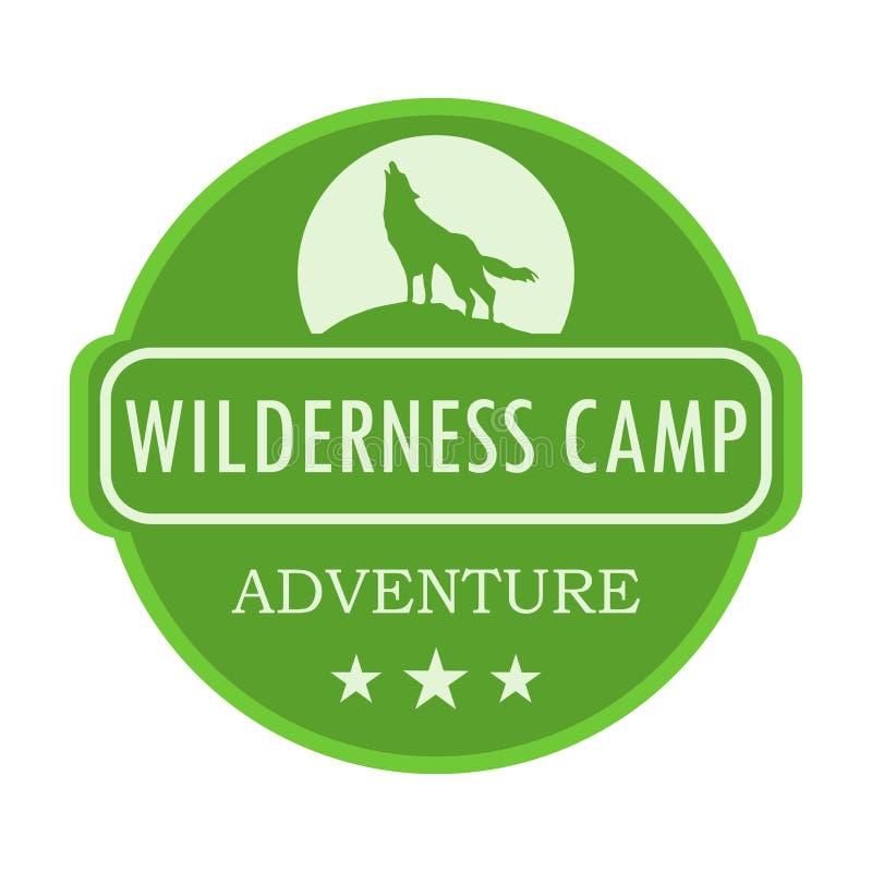 Wilderness camp illustration vector illustration