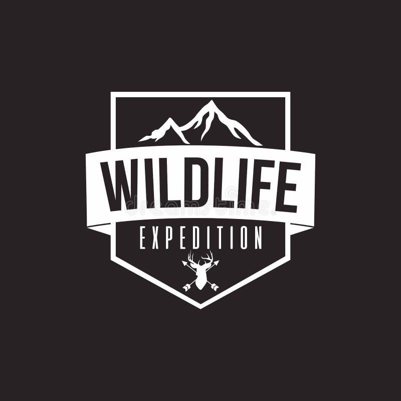 Wilderness Expedition Vector Design, Black Background vector illustration