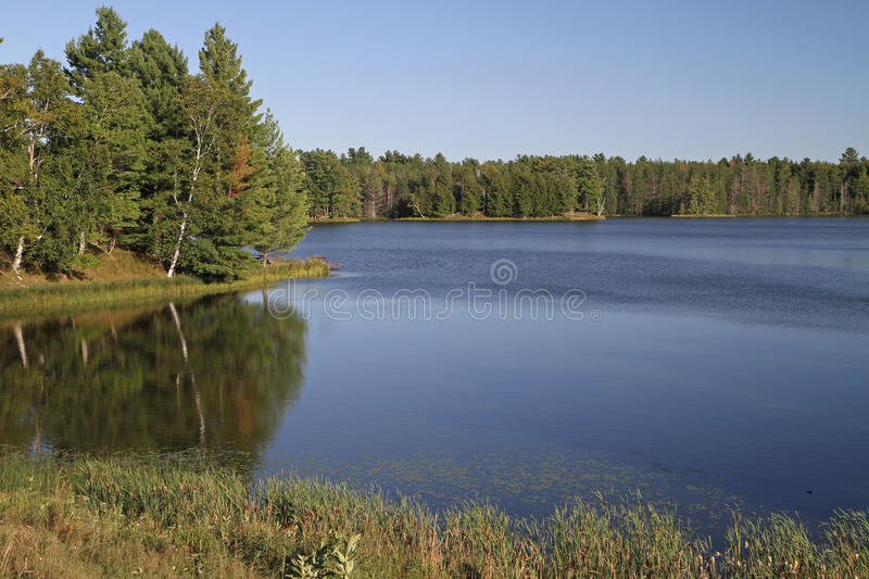 Download Wilderness Lake In Bright Sunshine Stock Image - Image: 33683097