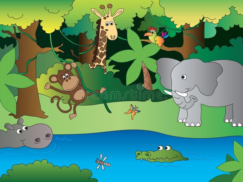 wildernis royalty-vrije illustratie
