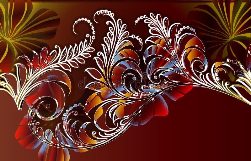 Wildernis fern_autumn royalty-vrije illustratie