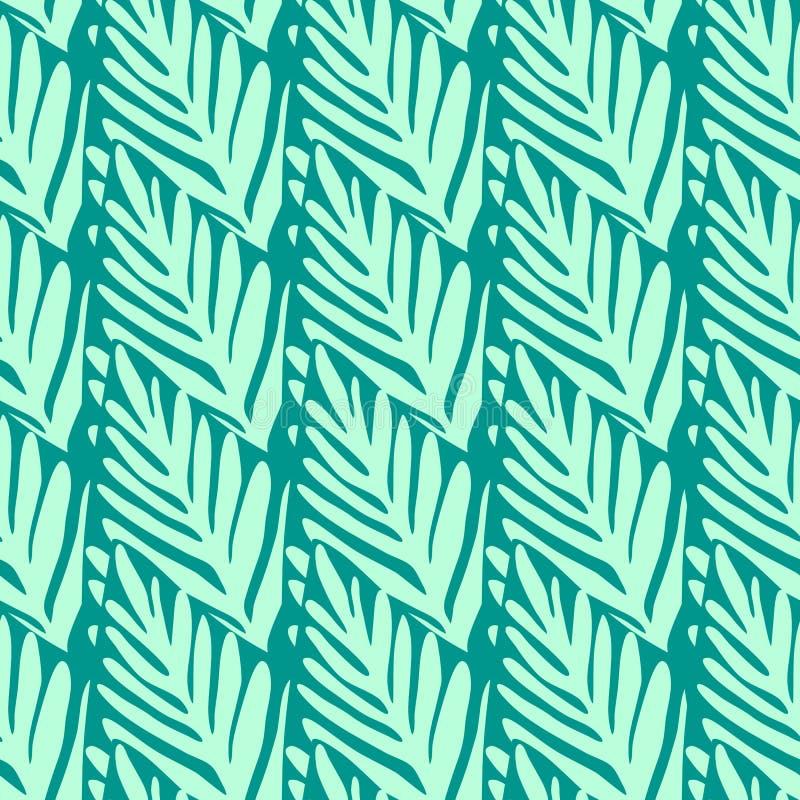 Wildernis geometrisch naadloos patroon Exotische installatieillustratie stock illustratie