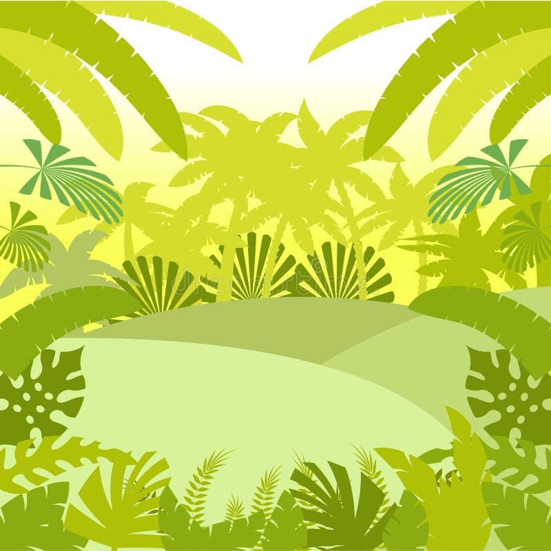 Wildernis Vlakke Background2 royalty-vrije illustratie