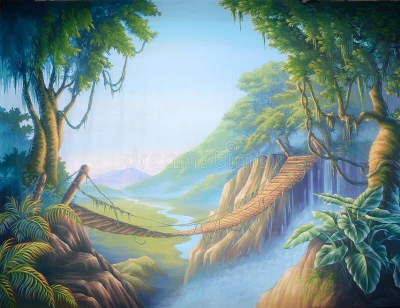 Wildernisbrug vector illustratie