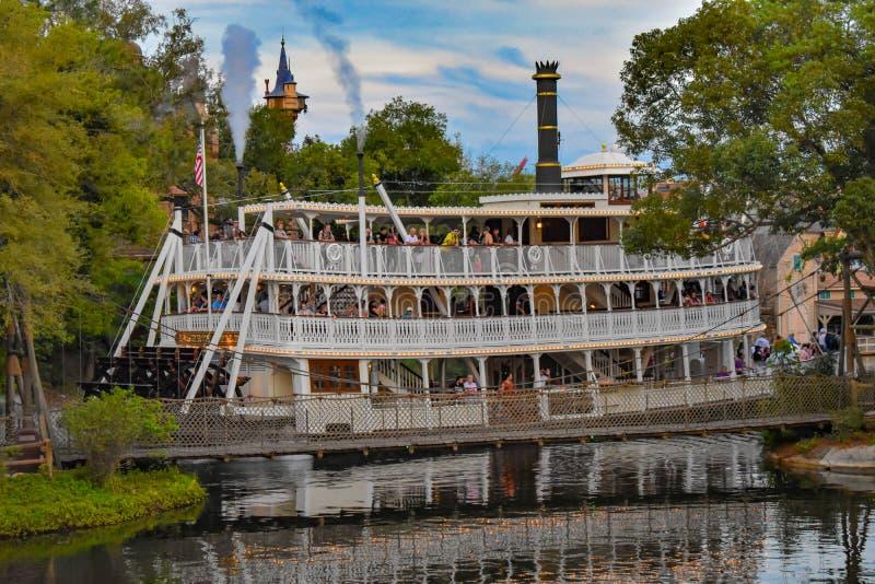 Wilderniscruise die op Adventureland-gebied in Magisch Koninkrijk in Walt Disney World 3 varen royalty-vrije stock foto's