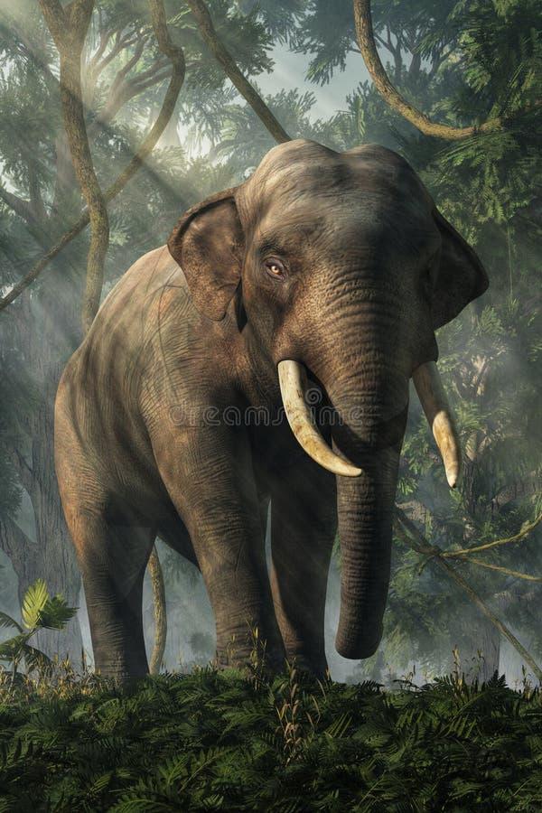 Wildernisolifant royalty-vrije illustratie