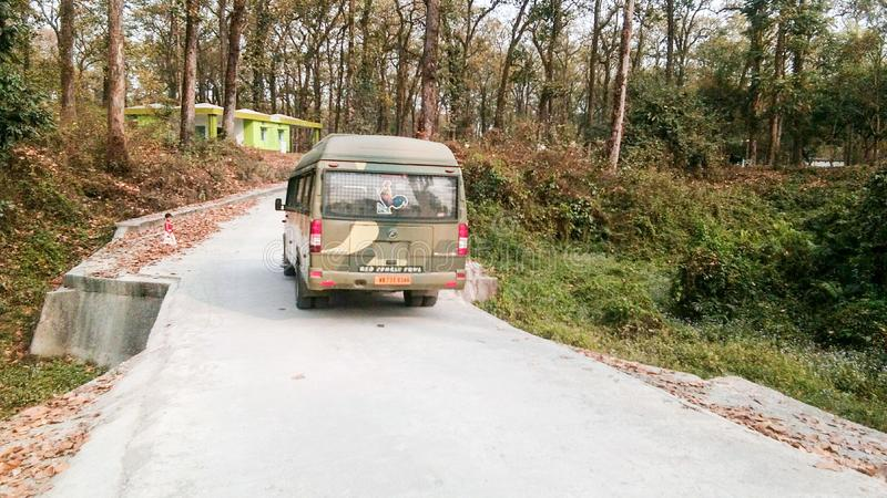 Wildernissafari bij een dierentuin in India royalty-vrije stock afbeelding