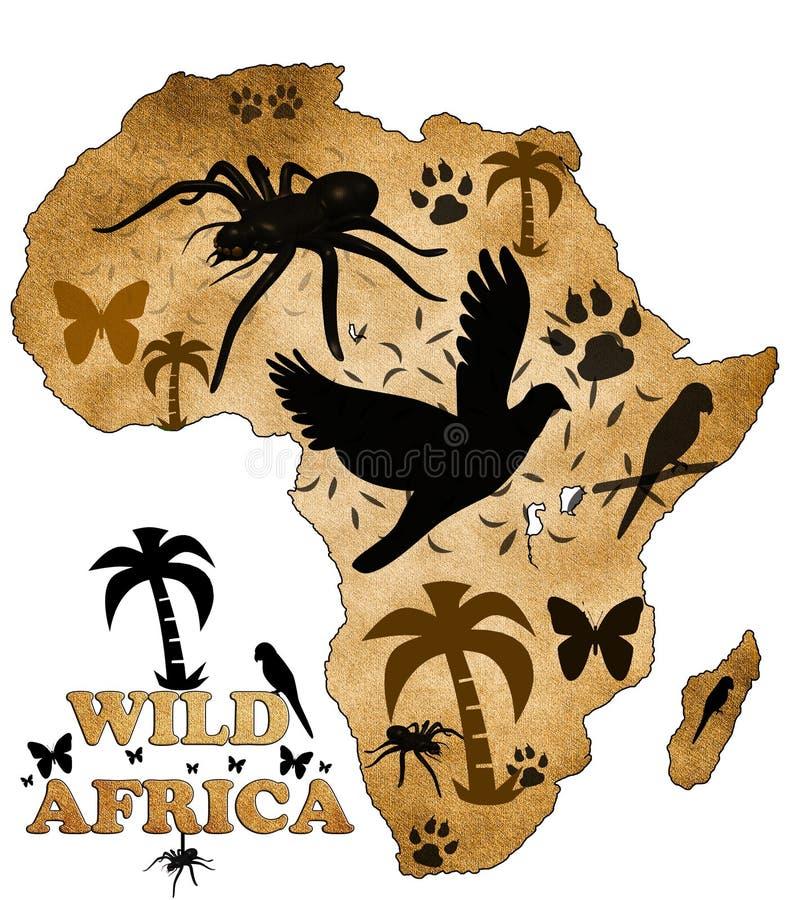 Wildes Afrika lizenzfreie abbildung