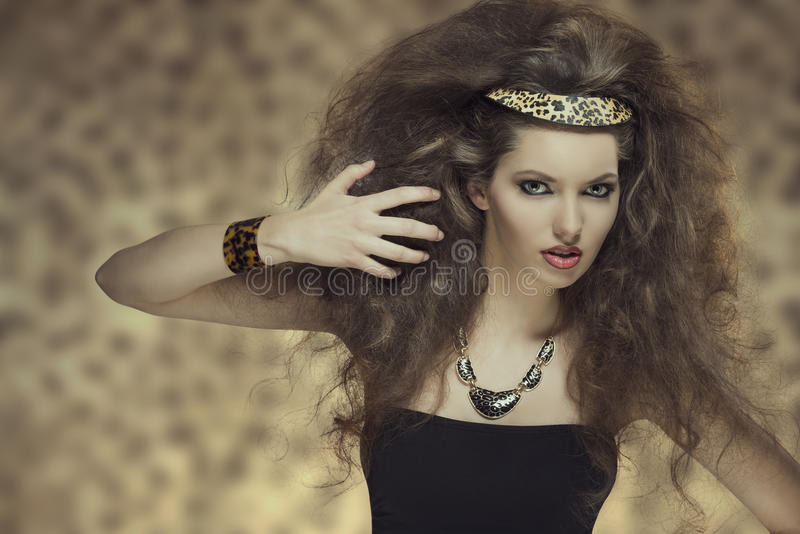 Wildes Mädchen der Mode stockbild