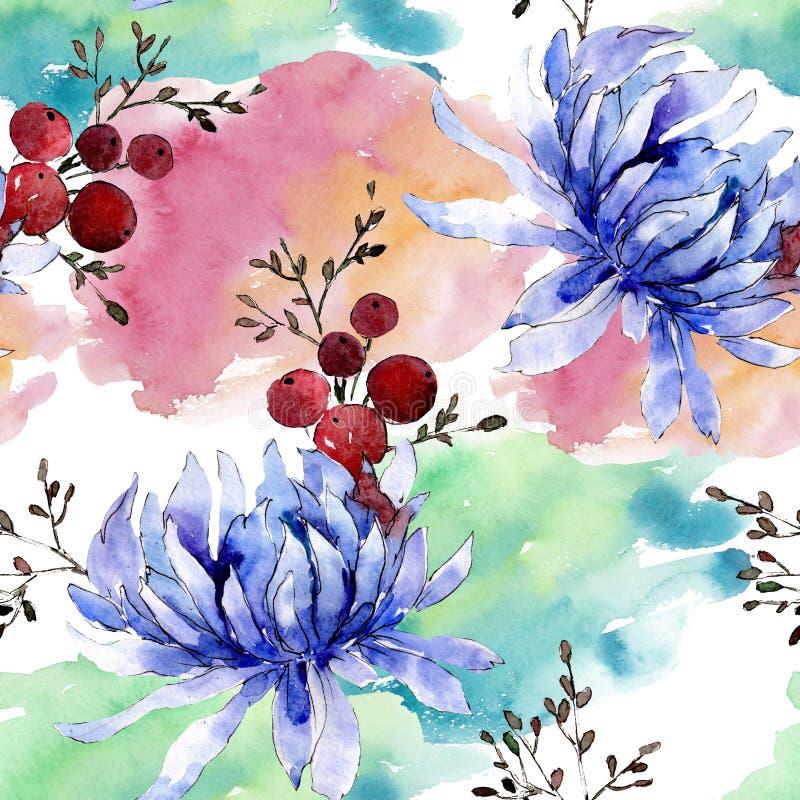 Букетские цветочные ботанические цветы Набор иллюстраций цвета воды Непрозрачный шаблон фона бесплатная иллюстрация