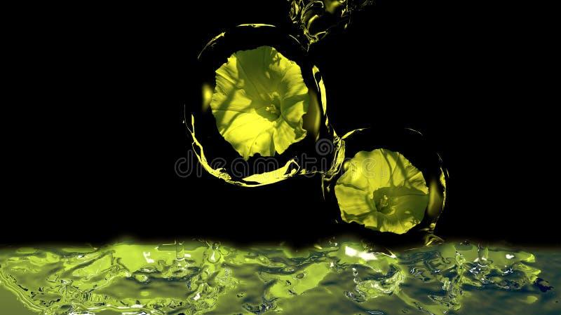 Wildflower dans l'eau illustration de vecteur
