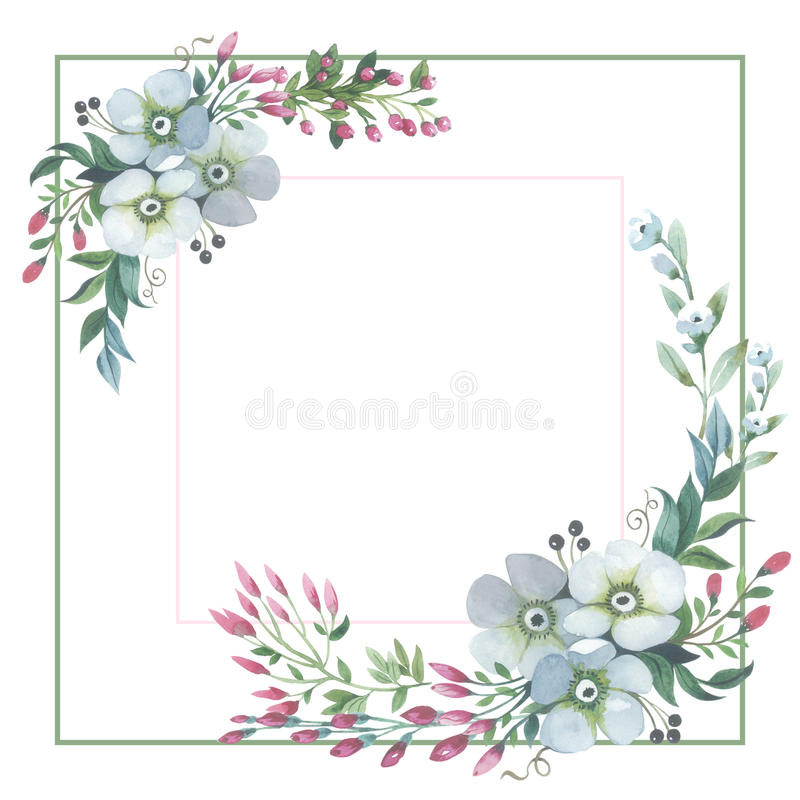 Wildflower lily flower frame in a watercolor style isolated. Full name of the plant: lily, lilium, lotus, water lily. Aquarelle flower could be used for stock illustration