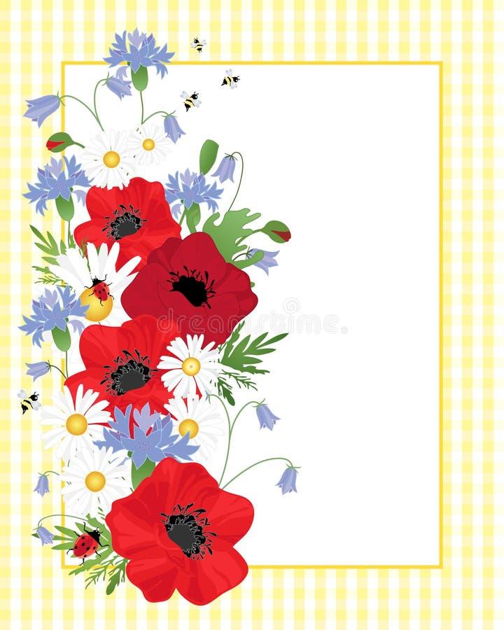 Wildflowerrand lizenzfreie abbildung