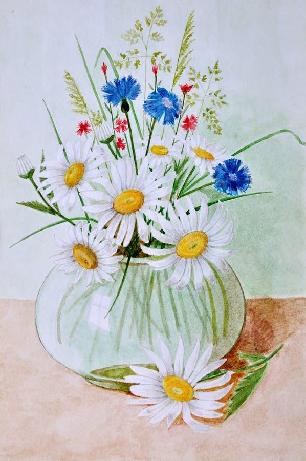wildflowers royalty-vrije illustratie