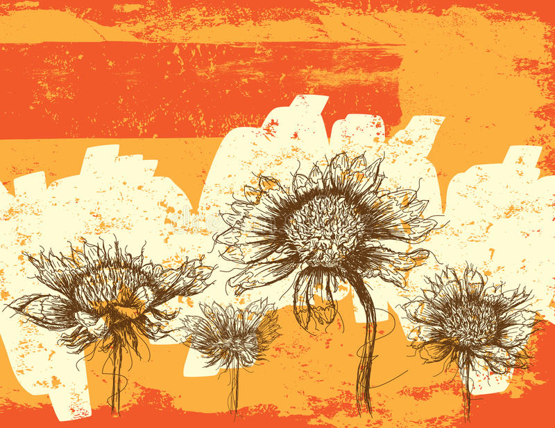 Wildflowerssamenvatting royalty-vrije illustratie