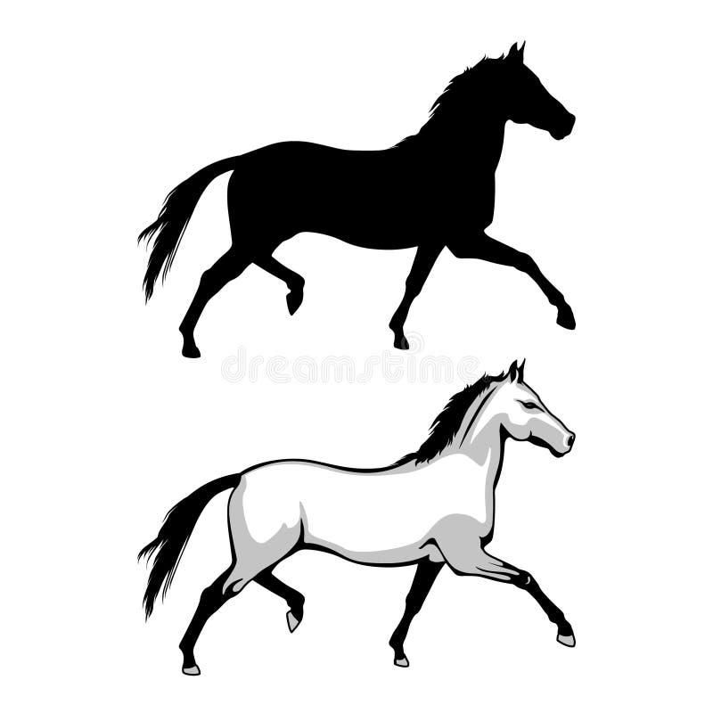 wildlife Άλογο που πηδά Διανυσματικό άλογο ελεύθερη απεικόνιση δικαιώματος