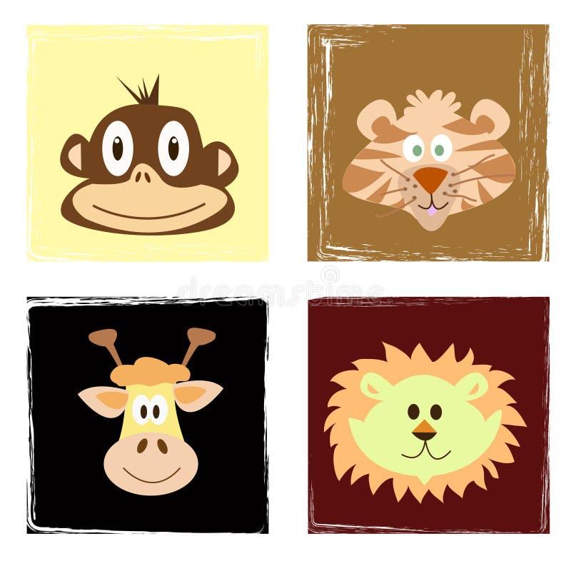 Download Wildlife stock vector. Illustration of grungy, lion, mammals - 4021236