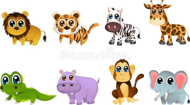 Wildlife animal cartoons. A illustration of different wildlife animals cartoons royalty free illustration