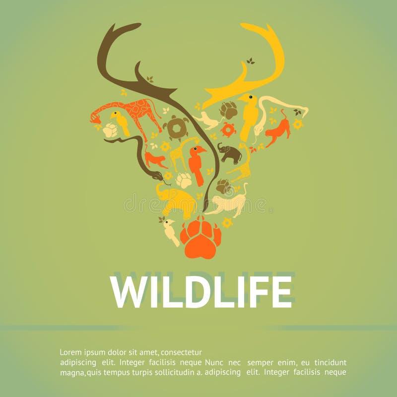 Free Wildlife Animal Infographic Template Layout Badge Background Stock Photos - 64694233