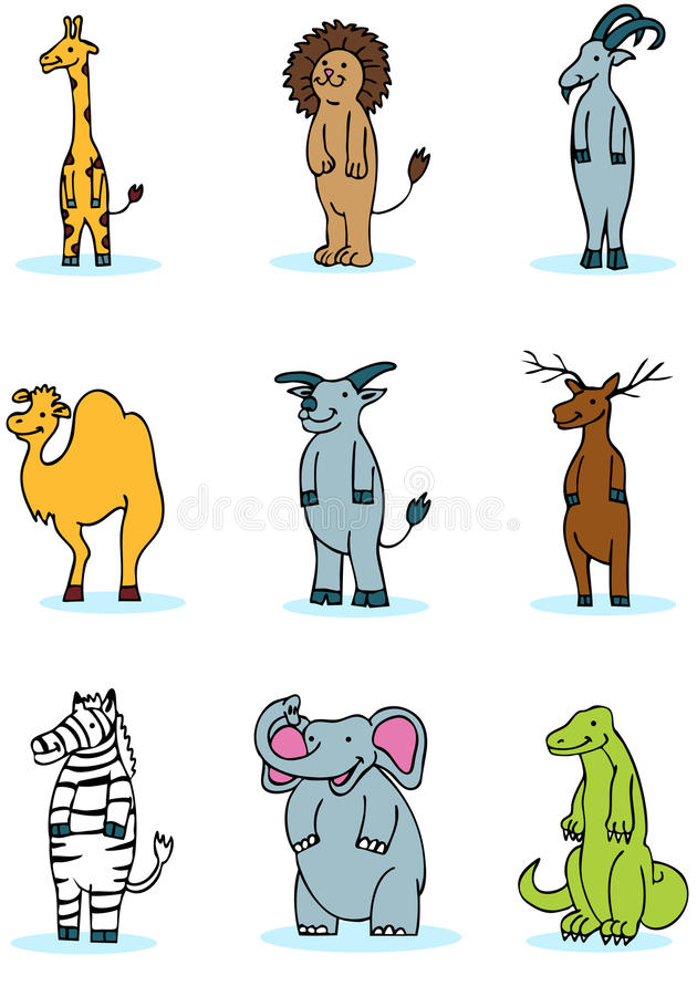 Download Wildlife Animal Set stock vector. Image of camel, cartoon - 9504763