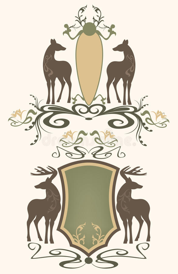 Download Wildlife emblems vector stock vector. Image of silhouettes - 21403031