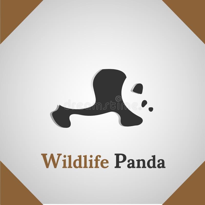 Wildlife Panda silhouette icon logo royalty free stock images