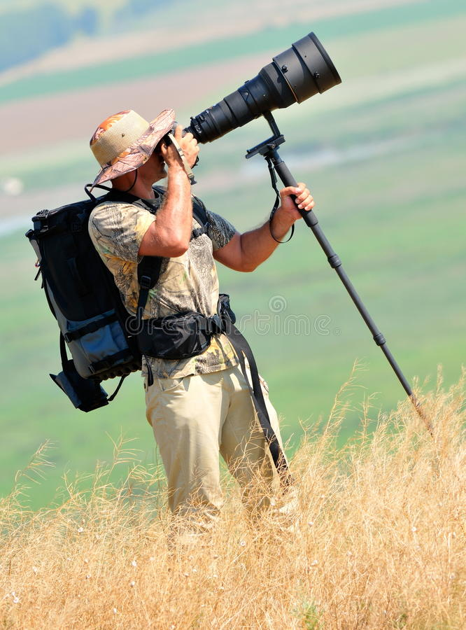 Download Wildlife Photographer Outdoor Stock Image - Image of photograph, hold: 21648841