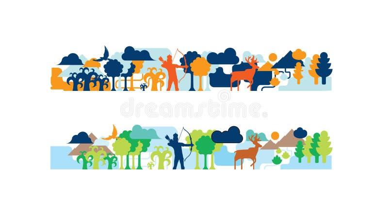 Wildlife tale illustration royalty free stock images