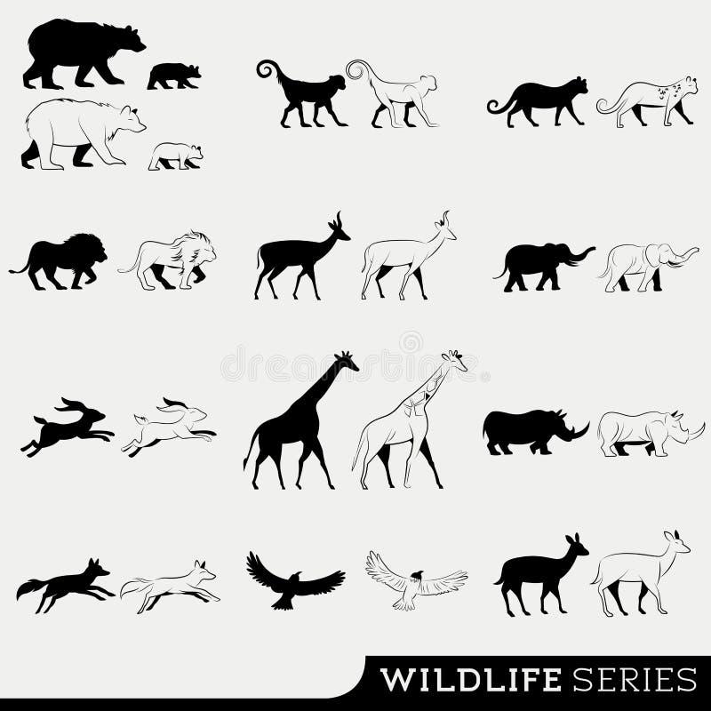 Download Wildlife Vector Series stock vector. Image of birds, africa - 31706960